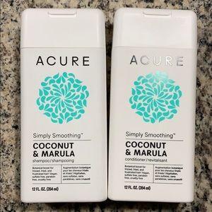 ACURE coconut & marula shampoo & conditioner
